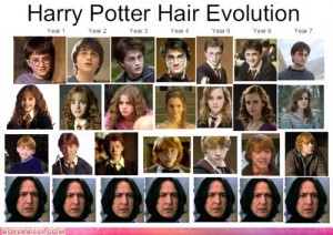 funny-celebrity-pictures-harry-potter-hair-evolution2